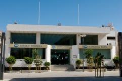 闭合的银行在塞浦路斯 库存图片
