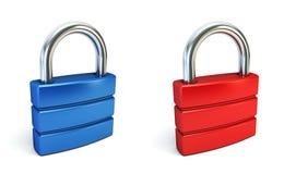闭合的锁定金属 皇族释放例证