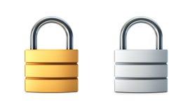 闭合的锁定金属 向量例证
