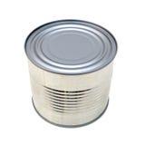 闭合的锡罐 免版税库存图片
