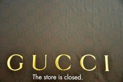 闭合的gucci意大利存储 免版税库存图片