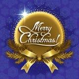 问候圣诞卡蓝色 免版税图库摄影