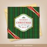 问候圣诞节和新年度看板卡。 库存照片