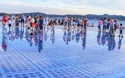 问候太阳扎达尔,克罗地亚 免版税库存照片