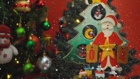 问候季节概念 圣诞老人展示4天耕种与o的Xmas 免版税库存照片