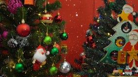 问候季节概念 圣诞老人展示3天耕种与o的Xmas 免版税库存图片