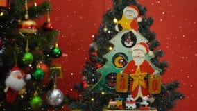 问候季节概念 圣诞老人展示30天耕种Xmas与 库存图片
