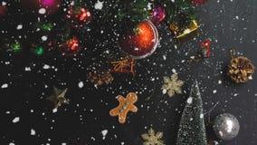 问候季节概念 装饰品手设置在圣诞节的 图库摄影