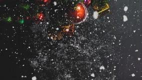 问候季节概念 装饰品手设置在圣诞节的 免版税库存照片