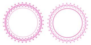 问候邀请与郁金香的框架卡片适用于情人节、母亲节、生日或者婚礼之日空白 免版税库存照片