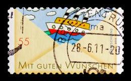 问候:船, serie,大约2010年 免版税库存图片