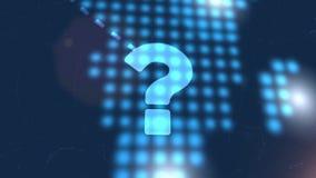 问号标志常见问题解答象动画蓝色数字式世界地图技术背景 皇族释放例证