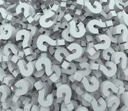 问号背景学会想象力的测验测试 免版税库存图片