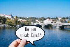 问您讲捷克语 免版税库存照片