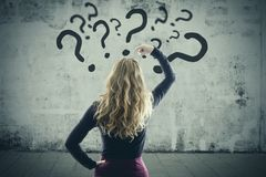 问题和解答概念 免版税库存照片