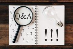 问题和解答概念Q&A 免版税库存图片