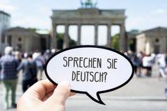 问题您讲用德语写的德语 免版税图库摄影