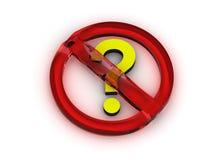 问题符号终止 免版税库存照片