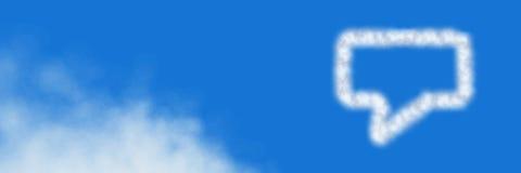 闲谈泡影与天空的云彩象 库存图片