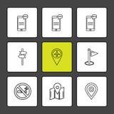 闲谈,交谈, mobiel,连通性,航海,世界 向量例证