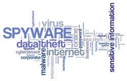 间谍软件-数据保密性 皇族释放例证