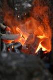 闷燃的地狱 库存照片