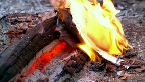 闷燃的灰和消散在风 4k UHD 股票视频