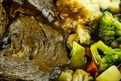 闷肉蔬菜 库存图片