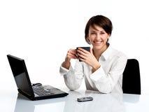 闸咖啡办公室 免版税图库摄影