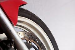 闸摩托车轮子 免版税库存图片