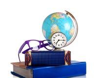 闹钟玻璃仍然地球生活 库存照片