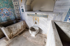 闺房内部, Topkapi宫殿,伊斯坦布尔,土耳其 免版税库存照片