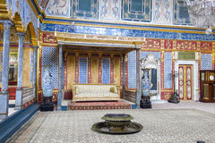 闺房在Topkapi宫殿,伊斯坦布尔,土耳其 库存图片