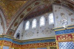 闺房在Topkapi宫殿,伊斯坦布尔,土耳其 免版税库存照片