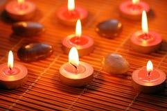 闻的灼烧的蜡烛 免版税库存照片