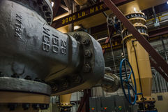 阀门在能源厂 免版税库存图片