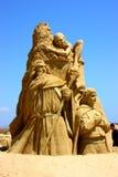 阁下电影敲响沙子雕塑 免版税图库摄影
