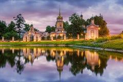 阁下的十字架的兴奋的寺庙在Altufevo M 免版税图库摄影