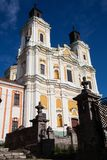 阁下的变貌的大教堂,克列梅涅茨,乌克兰 免版税库存照片