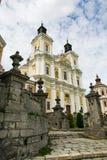 阁下的变貌的大教堂,克列梅涅茨,乌克兰 库存图片