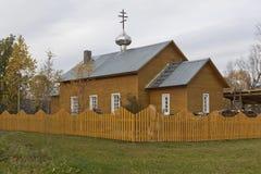 阁下的变貌的教会在斯帕斯基Pogost, Tarnogsky区,沃洛格达州地区 免版税库存图片