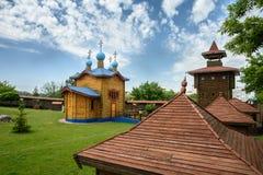 阁下的天主教显圣容堂城堡的疆土的在莫济里  迟来的 免版税库存照片