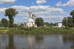 阁下的教会Candlemas在市沃洛格达州 免版税库存照片