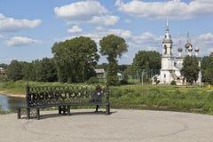 阁下的教会Candlemas的看法在市沃洛格达州 免版税库存图片