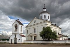 阁下的正统天主教显圣容堂 免版税图库摄影