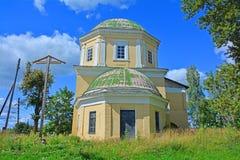 阁下的Honest Cross的架设教会在Torzhok市,俄罗斯 免版税库存照片