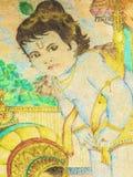 阁下krishna颜色铅笔工作 免版税库存图片