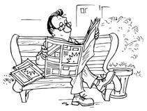 阅读程序 免版税库存照片