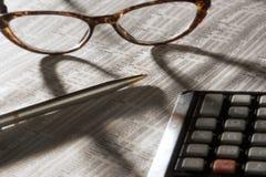 阅读股票的市场 免版税库存图片
