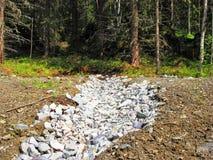 阐明风景的轻的石头 免版税库存图片